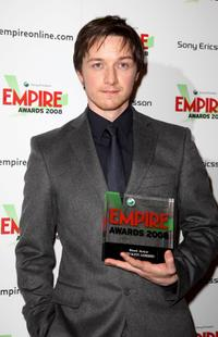 James McAvoy at the Sony Ericsson Empire Awards 2008.