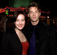 Ashley Johnson and Levi Kreis at the premiere of