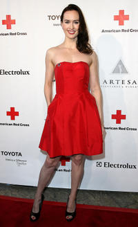Erin Carufel at the American Red Cross, Santa Monica Chapter's Annual Red Tie Affair in California.