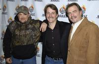 Larry The Cable Guy, Jeff Foxworhty and Bill Engvill at the Comedy Centrals Jeff Foxworthy Roast.