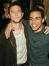 Joseph Gordon-Levitt and Victor Rasuk at the after party of the premiere of