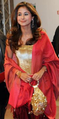 Urmila Matondkar at the opening ceremony of Dubai's International Film Festival.