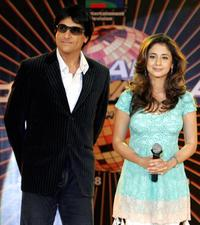 Shiamak Dawar and Urmila Matondkar at the television reality show launch in New Delhi.