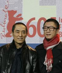 Director Zhang Yimou and Sun Hong-Lei at the 60th Berlin International Film Festival.