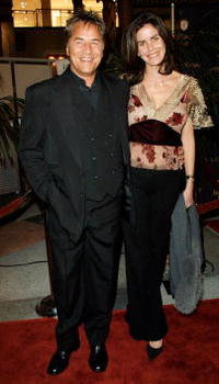 Don Johnson and wife Kelley at the fulfillment fund honoring Jeffrey Katzenberg at the Stars 2001 Benefit Gala.