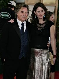 Don Johnson and Kelley Johnson at the 63rd Annual Golden Globe Awards.