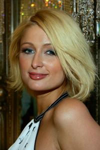 Paris Hilton at the grand opening of Color - A Salon by Michael Boychuck.