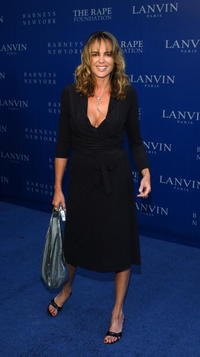 Michelle Johnson at the Lanvin Fashion Show benefiting the Rape Foundation.