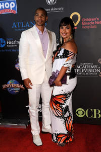 Aaron D. Spears and Estela Spears at the 38th Annual Daytime Entertainment Emmy Awards in Nevada.
