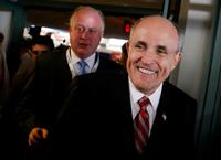 Rudy Giuliani at the start of GOP Presidential Candidates Debate.