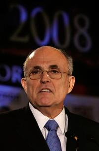 Rudy Giuliani at the Orange County Lincoln Day Dinner.