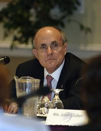 Rudy Giuliani at the roundtable discussion on space industry.