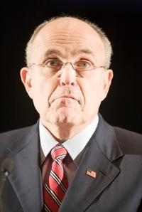 Rudy Giuliani at the National Troopers Coalition Winter conference.