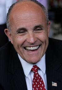 Rudy Giuliani at the campaign stop at Broadway Grill.