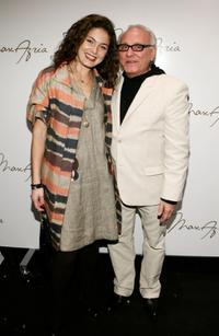 Alexa Davalos and Max Azria at the Max Azria Fall 2007 fashion show.
