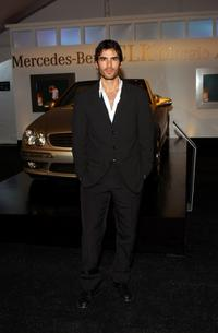Eduardo Verastegui at the Lloyd Klein catwalk show during the Los Angeles Fashion Week.
