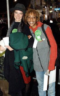 Mo Collins and Debra Wilson at the 70th Anniversary Hollywood Christmas Parade.