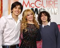 Yani Gellman, Hilary Duff and Adam Lamberg at the premiere of