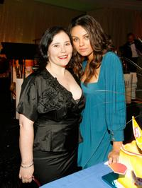 Alex Borstein and Mila Kunis at the Family Guys 100th Episode party.