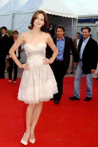 """""""The Heartbreak Kid"""" star Michelle Monaghan at the premiere during the 33rd US Film festival of Deauville's competition."""