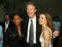 Lena Cardwell, Chris McGurk and Marieh Delfino at the premiere of