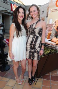 Grace Johnston and Madeline Carroll at the California premiere of
