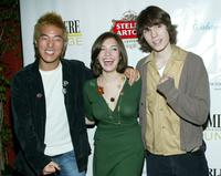 Leonardo Nam, Michelle Horn and John Patrick Amedori at the after party of