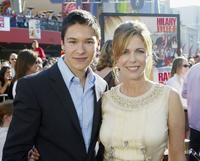 Oliver James and Rita Wilson at the premiere of