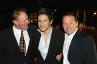 Producer Hunt Lowry, Oliver James and Producer Bill Gerber at the premiere of
