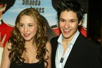 Amanda Bynes and Oliver James at the premiere of