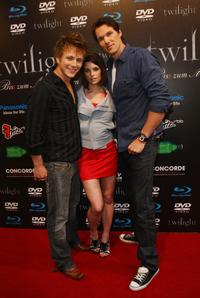 Charlie Bewley, Ashley Greene and Daniel Cudmore at the Twilight fan party.