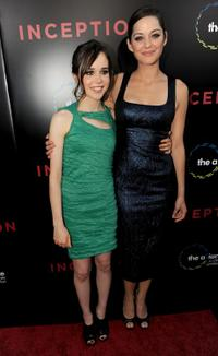 Ellen Page and Marion Cotillard at the premiere of