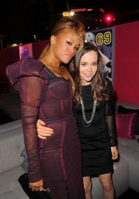 Eve and Ellen Page at the after party of the premiere of