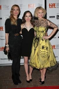 Kristen Wiig, Ellen Page and Drew Barrymore at the screening of