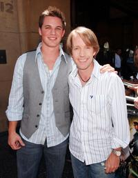 Matt Lanter and James Arnold Taylor at the premiere of