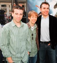 Mikey Kelley, James Arnold Taylor and Nolan North at the premiere of