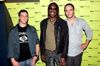 Stefan Lessard, Boyd Tinsley and Dave Matthews at the AOL Music LIVE! Concert.