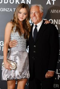 Devon Aoki and Giorgio Armani at the Giorgio Armani's