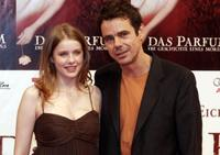 Rachel Hurd-Wood and Tom Tykwer at the premiere of