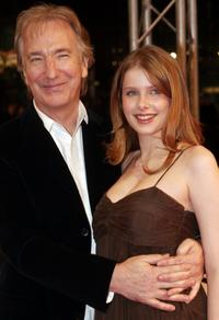 Alan Rickman and Rachel Hurd-Wood at the premiere of