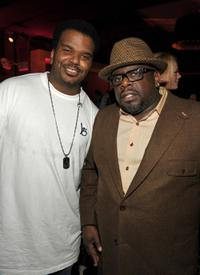 Craig Robinson and Cedric the Entertainer at the grand opening party for Delphine restaurant.
