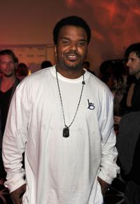 Craig Robinson at the grand opening party for Delphine restaurant.