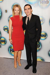 Lauren Bowles and Patrick Fischler at the 2012 Golden Globe Awards party in California.