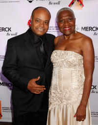 Terence Bernie Hines and C. Virginia Fields at the National Black Leadership Commission on AIDS Host 25th Anniversary Choose Life Awards.