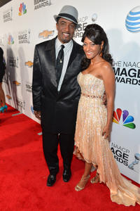 Clyde Jones and guest at the 44th NAACP Image Awards.