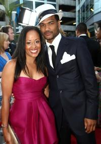 Essence Atkins and Damien Dante Wayans at the premiere of