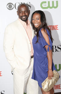 Alimi Ballard and Dior Raye at the CBS, CW, CBS Television Studio and Showtime TCA party in California.