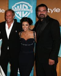 Michael Bolton, Eva Longoria and Ricardo Antonio Chavira at the after party of In Style Magazine and Warner Bros. Studios Golden Globe.
