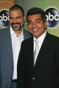 Ricardo Antonio Chavira and George Lopez at the ABC Television Network Upfront.
