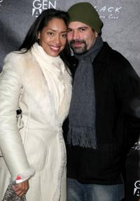 Ricardo Antonio Chavira and Guest at the Kenneth Cole Black & Gen Art party during the 2009 Sundance Film Festival.